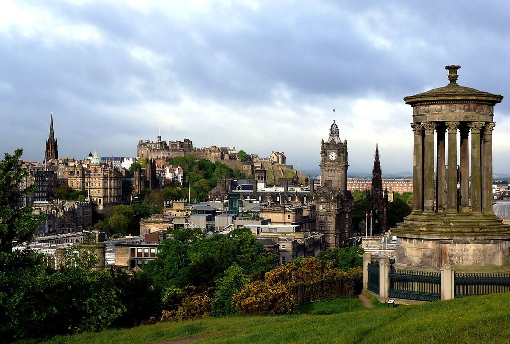 Edinburgh from Calton Hill - By permission of Wikimedia Commons